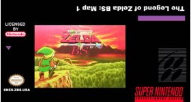 BS Legend of Zelda:  Map 1 for the SNES in English