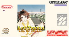 Ace Tennis Super Nintendo SNES English