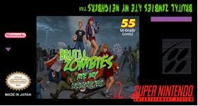 Brutal Zombies Ate My Neighbors SNES Repro Reproduction